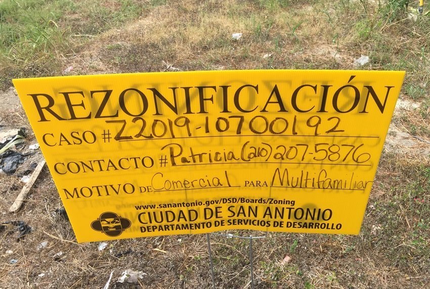 San Antonio Rezoning Sign #Z2019-10700192